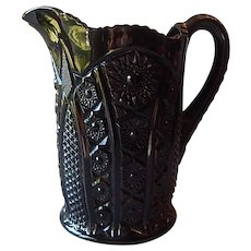 Indiana Glass Tiara Monarch Black Beverage Pitcher