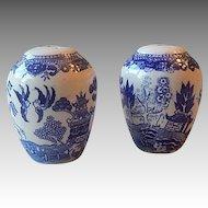 Japanese Blue Willow Salt and Pepper Set
