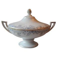 Porcelain Footed Covered Vegetable Serving Dish