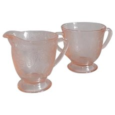 MacBeth-Evan Dogwood Creamer and Sugar set