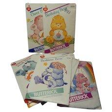 Nine Butterick Care Bears Patterns