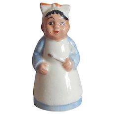 Japan Black Mammy Ceramic Shaker