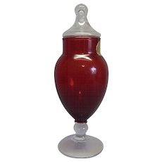 Anchor Hocking Ruby Red Apothecary / Candy Jar