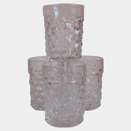 Four Fostoria Ameican Low Tumblers