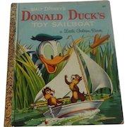 A Little Golden Book Donald Duck's Toy Sailboat
