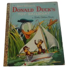 A Little Golden Book Donald Duck's Toy Sailboat