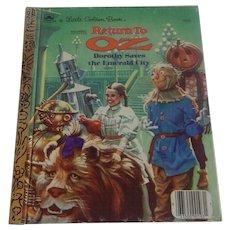 A Little Golden Book Return To Oz