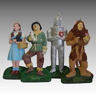 Four Kurt Adler Wizard of Oz Christmas Ornaments