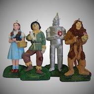 Four Kurt Adler Wizard of Oz Christmas Ornaments