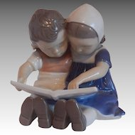 Reading Children #1567 Figurine by Bing & Grondahl