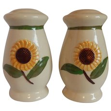 Shawnee Pottery Sunflower Salt and Pepper Shakers