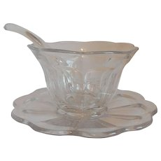 Heisey Colonial Mayonnaise Bowl and Plate