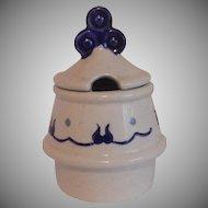 Metlox Poppytrail Homestead Provincial Blue Mustard Jar