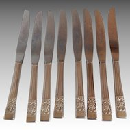 Eight Community Coronation Silverplate Knifes