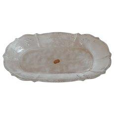 Fostoria Glass  Chintz Celery Dish
