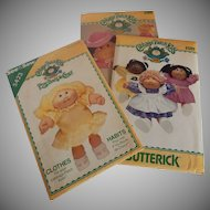Three Cabbage Patch Kids Butterick Patterns