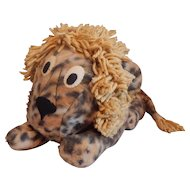 Vintage Stuffed Plush Toy Lion