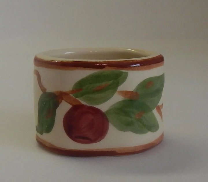 Franciscan Dinnerware Apple Napkin Ring USA & Franciscan Dinnerware Apple Napkin Ring USA : Colemans Collectibles ...
