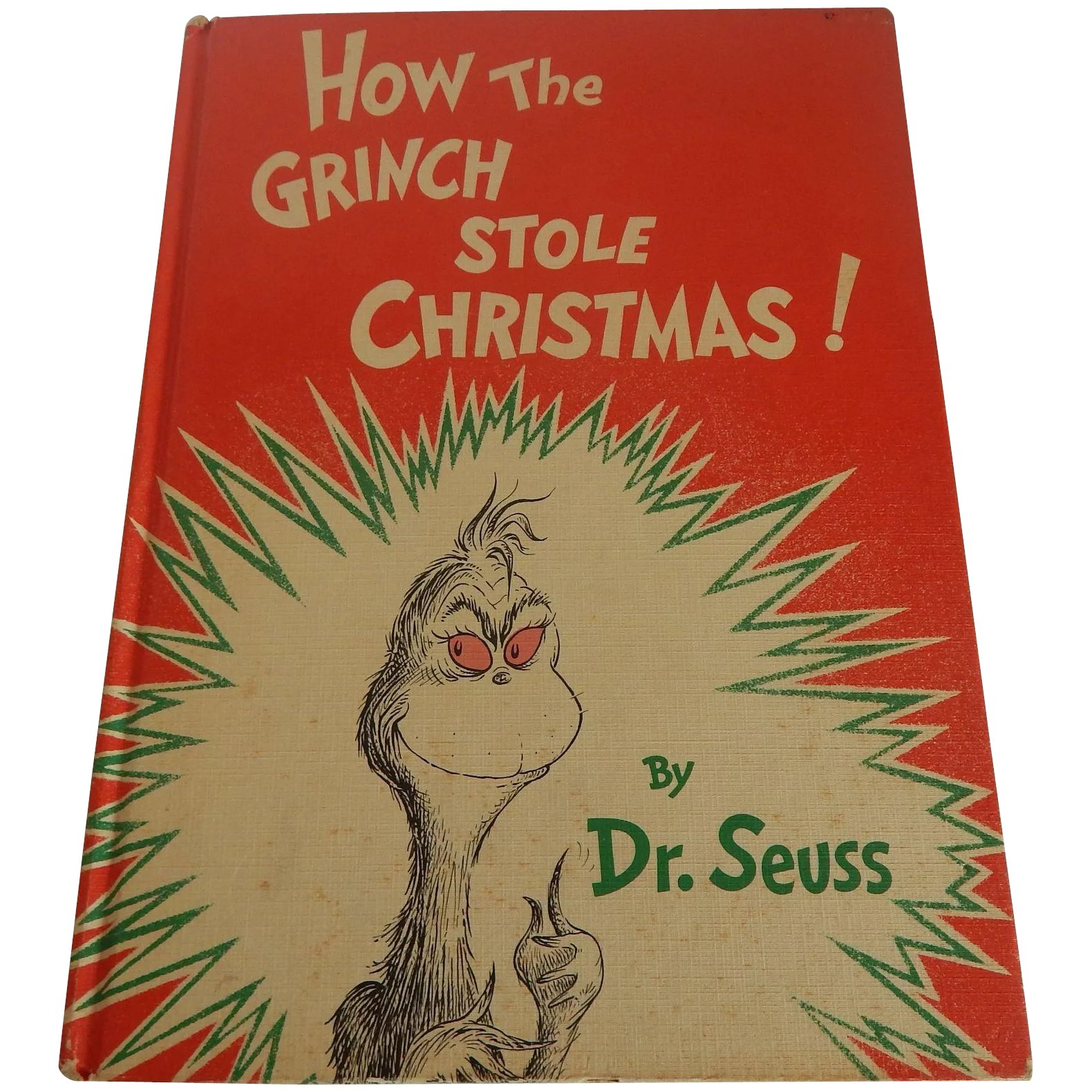 How The Grinch Stole Christmas Book Cover.How The Grinch Stole Christmas Dr Seuss