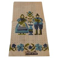 Parisian Print Kitchen Towel with Dutch Couple
