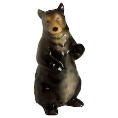 Enesco Seagull Avian Black Bear Figurine