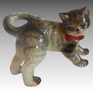 Hand Painted Ceramic Striped Kitten Figurine