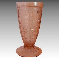 Tiara Indiana Glass Pink / Peach Ice Tea Tumbler