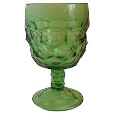 Viking Glass Georgian Light Emerald Green Water Goblet