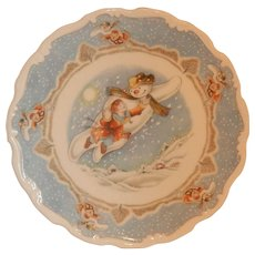 Royal Doulton Snowman Plate Walking In Air Plate