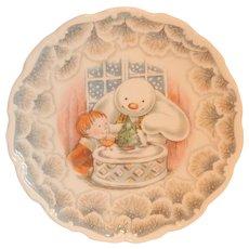 Royal Doulton Snowman Christmas Cake Plate