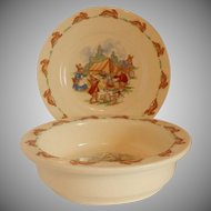 Royal Doulton Bunnkins Bowl and Plate