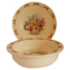 Royal Doulton Bunnkins Bowl and Plate