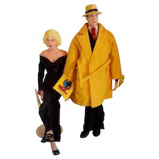 Dick Tracy and Breathless Mahoney Dolls 1990