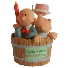 Hallmark Keepsake Ornament  Three Men in a Tub