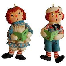 Hallmark Keepsake Raggedy Ann and Andy Ornaments