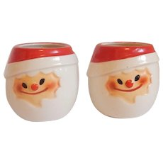 Two Holt Howard Santa  Eggnog Cups