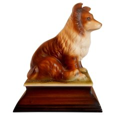 Ucagco Japan Collie Dog Figurine