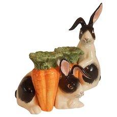 Fitz and Floyd Kensington Bunny Rabbit Candle Holders