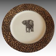 Fitz And Floyd Savanna Elephant Plate