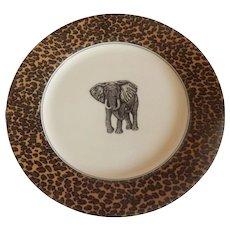 Fitz And Floyd Savanna Elephant Plate