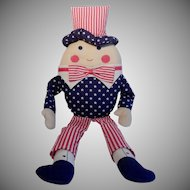 Uncle Sam Humpty Dumpty Cloth Doll