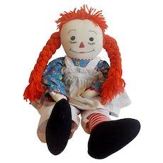 Hand Made Raggedy Ann Cloth Doll