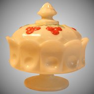 Westmoreland Milk Glass Cherry Candy Dish