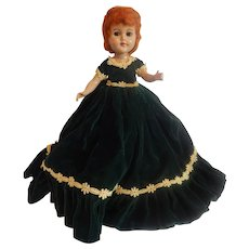 Hard Plastic Red Haired Doll