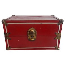 Red Metal Doll Trunk
