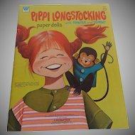 Whitman Pippi Longstocking Uncut Paper Dolls