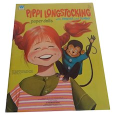 Whitman Pippi Longstocking Uncut Paper Dolls