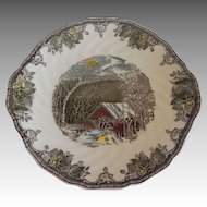 Johnson Bros. Friendly Village Handled Cake Plate