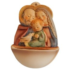 Goebel Hummel Holy Family Holy Water Font