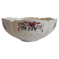 Belleek Winter Rose Bowl